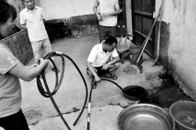 禹州一村庄地下水污染严重 井水一点火就着(图)